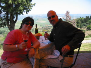 Kim and Chris at Boccon Di Vino
