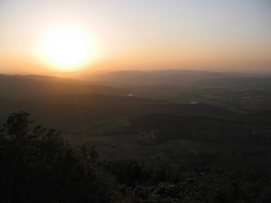 Sunset from Montalcino