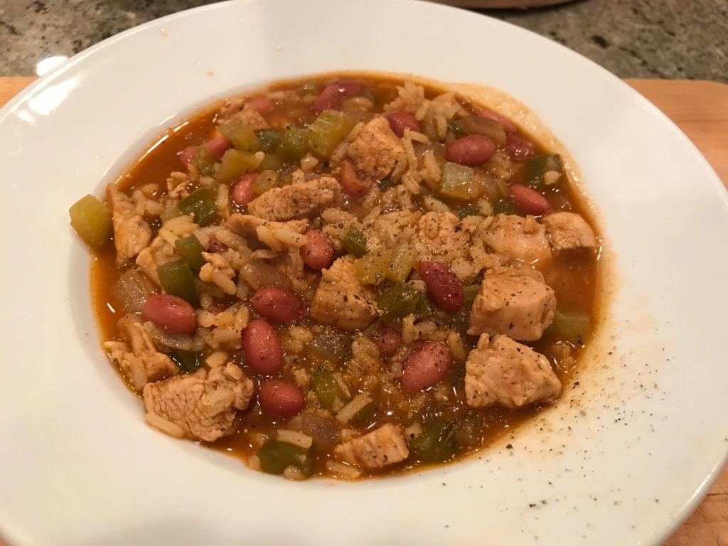 Cajun Chicken Red Bean Soup