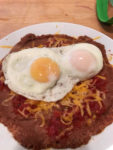 Eggs Over Refried Beans